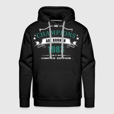 Champions Are Born In 1983 - Turquoise 2 - Men's Premium Hoodie
