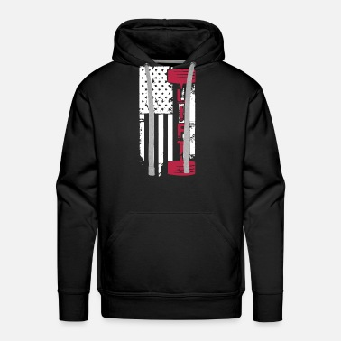 Weight-lifting Weight Lift Flag Shirt - Men's Premium Hoodie