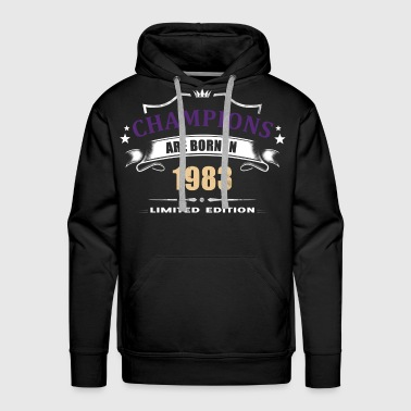 Champions Are Born In 1983 - Purple 1 - Men's Premium Hoodie