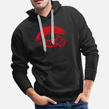 Cropped Lips Crop - Men's Premium Hoodie