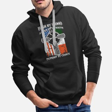 Irish by blood american t shirts - Men's Premium Hoodie
