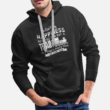 You can't buy happiness but you can buy a train an - Men's Premium Hoodie