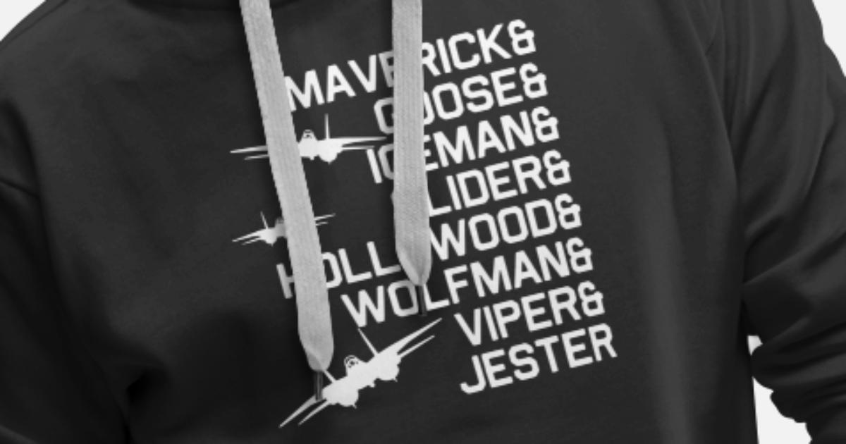5f7374da Maverick goose iceman sliger hollywood wolfman vip Men's Premium Hoodie |  Spreadshirt
