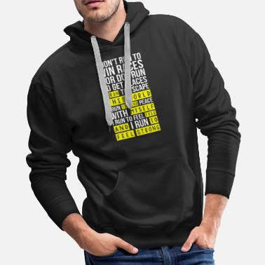 Boston Marathon Marathon - I run this world to find myself free - Men's Premium Hoodie