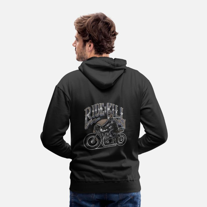 Bikes Hoodies & Sweatshirts - Ride To Kill - Men's Premium Hoodie black