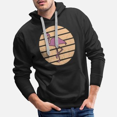 Swim Flamingo Sun Summer Gift Idea - Men's Premium Hoodie