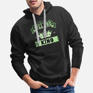 Crown Billiard King with Crown Pool Snooker - Men's Premium Hoodie