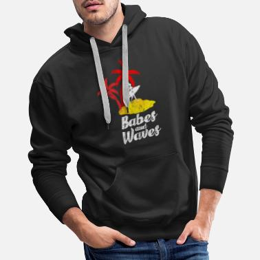Miami Surfing Surfer Wave Gift Idea - Men's Premium Hoodie