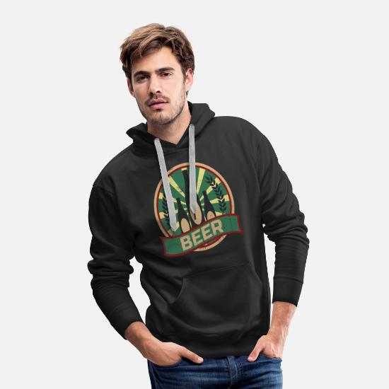 Alcohol Hoodies & Sweatshirts - Beer Propaganda - Men's Premium Hoodie black