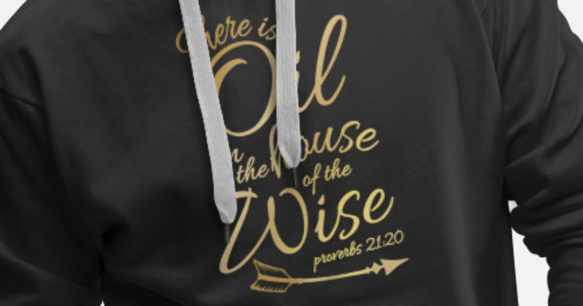 8fb1c176 There Is Oil - Funny Religious Bible Essential Men's Premium Hoodie |  Spreadshirt