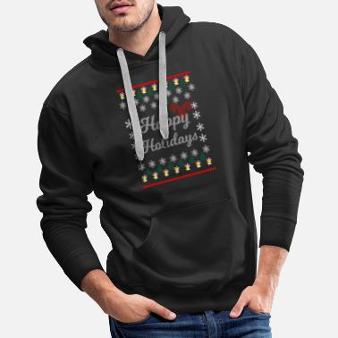Claus Christmas elves Santa Claus Santa Claus knitting - Men's Premium Hoodie