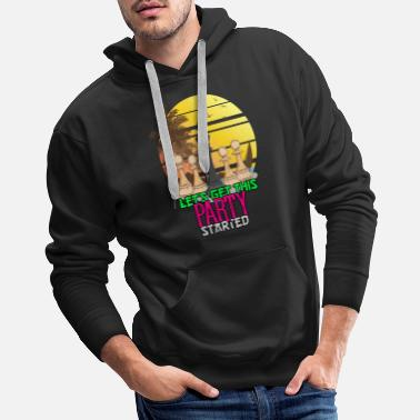 Checkered Chess: Let's Get This Party Started - Men's Premium Hoodie
