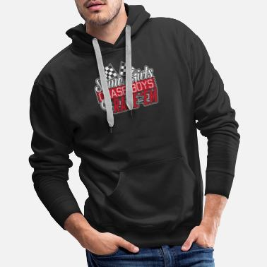 Chase Racer - Some girls chase boys but I race them - Men's Premium Hoodie