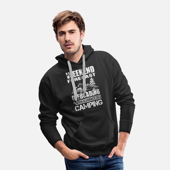 Love Hoodies & Sweatshirts - Offroading with a chance of camping - Men's Premium Hoodie black