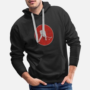 I Love Hockey Hockey Field Hockey Winter Puck Gift - Men's Premium Hoodie