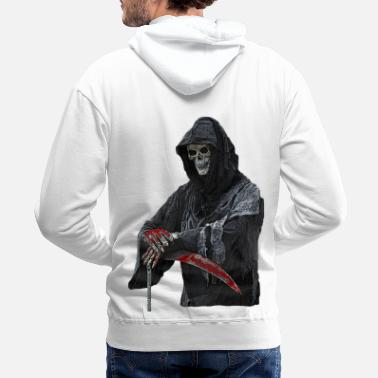 Skull Skull, death, satan, pirate, devil, Halloween, - Men's Premium Hoodie