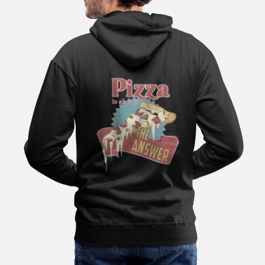 Supreme Style pizza is always the answer - Men's Premium Hoodie