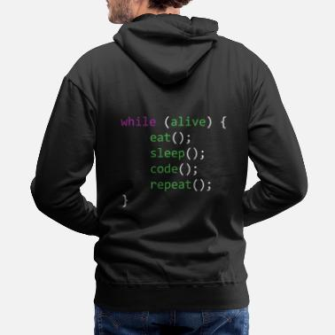 Coder Life of A Coder - Men's Premium Hoodie