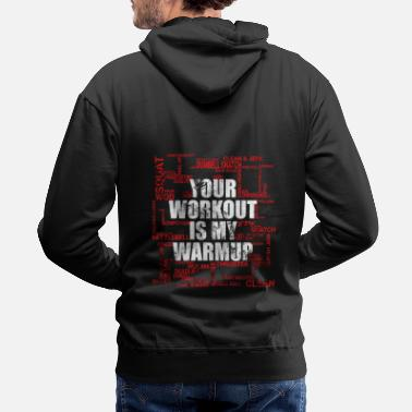 Body Workout - Warm up - Tag Cloud nice gift - Men's Premium Hoodie