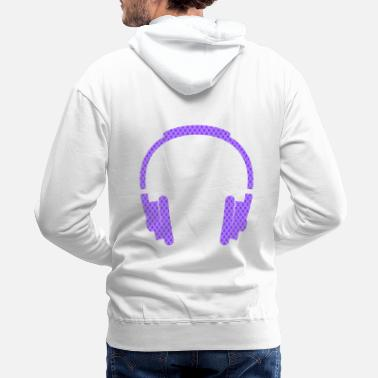 Headphones headphone - Design - Men's Premium Hoodie