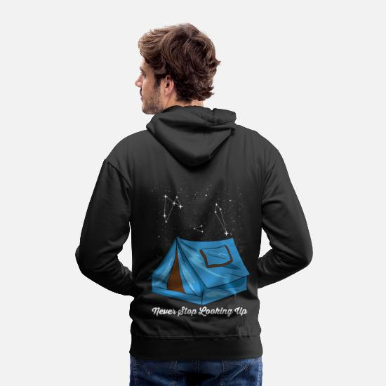 Way Hoodies & Sweatshirts - Never Stop Looking Up Starry Night Sky Asterism - Men's Premium Hoodie black