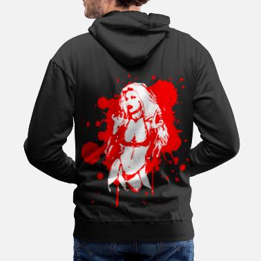 Sexy Mom 2reborn Blood Demon sexy Devil Engel Teufel wh - Men's Premium Hoodie