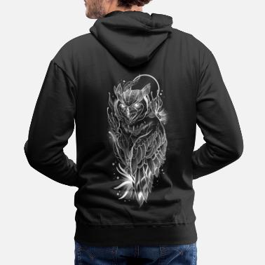 Owl Great Horned Owl - Men's Premium Hoodie