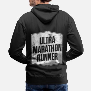 Middle Ultra Running Marathon Trailrunning Shirt Gift - Men's Premium Hoodie