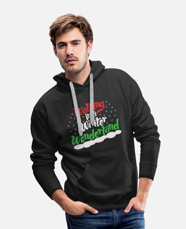 Christmas Hoodies & Sweatshirts - Walking In A Winter Wonderland - Christmas Xmas - Men's Premium Hoodie black