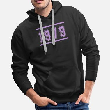 Born Date Retro 1979 Text Birthday Classic idea - Men's Premium Hoodie