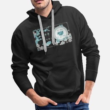 China Love flowers Valentine's Day Gift girl - Men's Premium Hoodie
