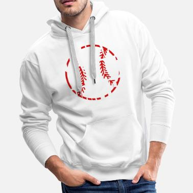 Fast Hit hard run fast turn left - baseball - Men's Premium Hoodie