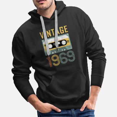 Made 50th Birthday Gift Born in 1969 Vintage Mixtape - Men's Premium Hoodie