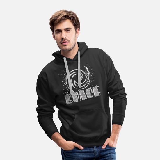 Star Hoodies & Sweatshirts - Space - Men's Premium Hoodie black