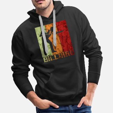 Stick-people Pool Billard Player worn - Men's Premium Hoodie