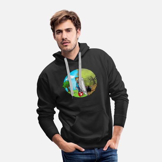 Vision Hoodies & Sweatshirts - FUNnel Vision THE OTHER SIDE (Adults) - Men's Premium Hoodie black