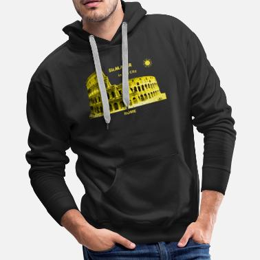 Colosseum Summer Rome Italy Europe city Colosseum vacation - Men's Premium Hoodie