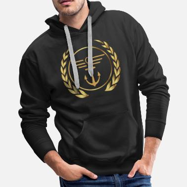 Gangster Mafia Anchor with lines - Men's Premium Hoodie