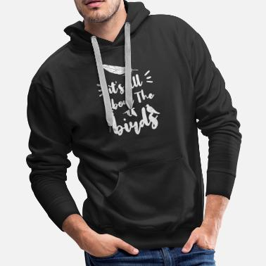 Blackbird Bird Native birds songbird blackbird gift - Men's Premium Hoodie