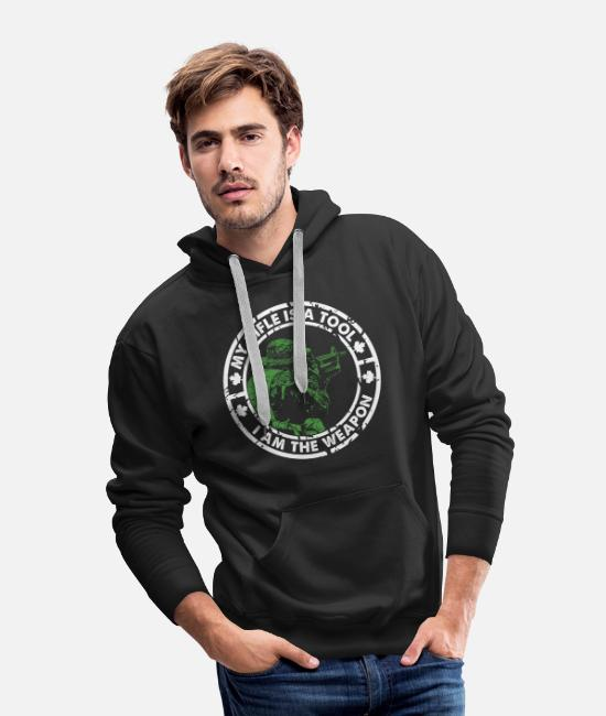 Canada Hoodies & Sweatshirts - I Am The Weapon Canadian Military - Men's Premium Hoodie black