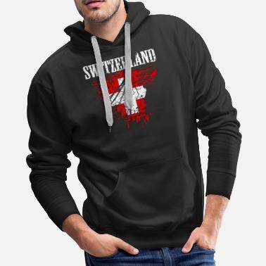 Swiss German Switzerland Swiss Country Flag Gift - Men's Premium Hoodie