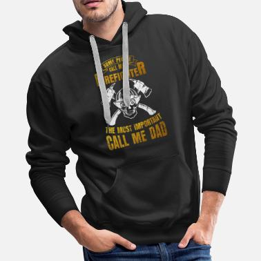 Model Fire Department Flag America Fire Ax Gift - Men's Premium Hoodie