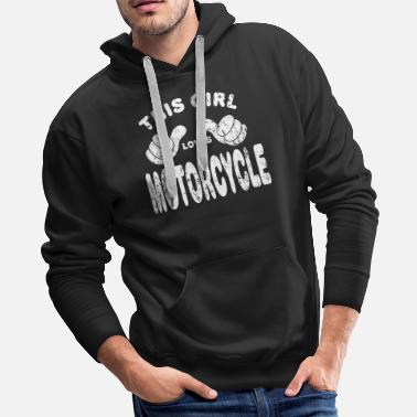Motor Motorcycle Biker girl woman - Men's Premium Hoodie