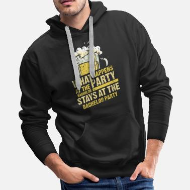 Him Bride Groom Marriage stage nights Gift - Men's Premium Hoodie
