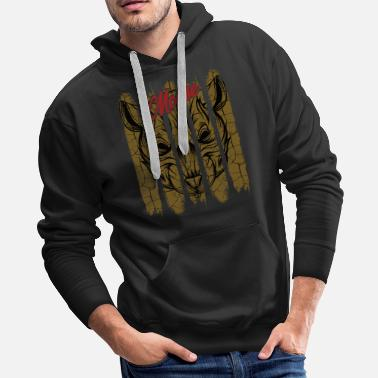 Statement Vintage Retro Style Mouse Face Old School Gnawer - Men's Premium Hoodie