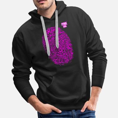 Lungs Cancer Fighter. Pink DNA. Cancer Survivor Gift - Men's Premium Hoodie