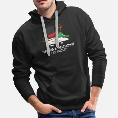 Frost Snowman Meltdown Christmas Holiday Stress Winter - Men's Premium Hoodie