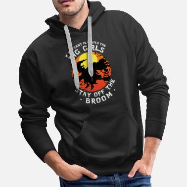 Fly With The Big Girl Witch Halloween Matching - Men's Premium Hoodie