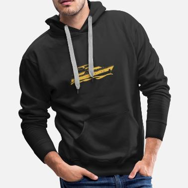 Waves boat ship sport waves sea gift - Men's Premium Hoodie