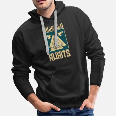 Raider Vikings Awaits Gift - Men's Premium Hoodie